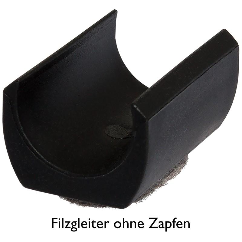 Filzgleiter Ohne Zapfen Fi 204 Oz Kunststoff Klemmschalengleiter Gleitkufe Zum Klipsen Stuhlgleiter Fuer Runde Rohre Freischwingstuhl