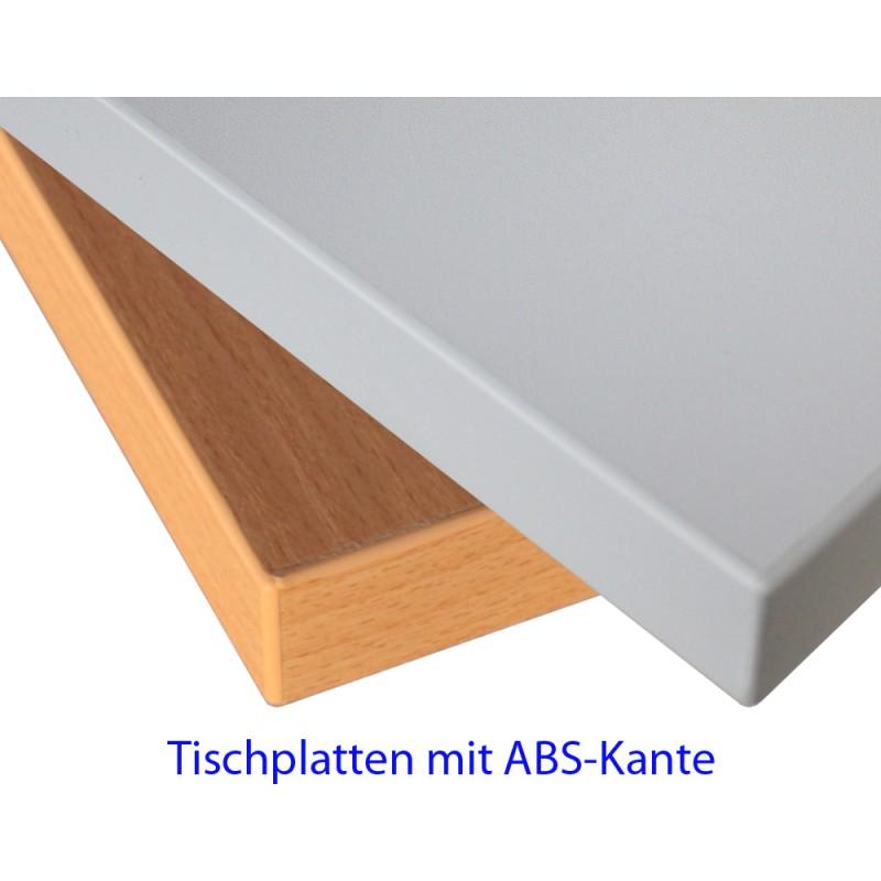 Beliebt Dekaform Schultischplatte mit Kunststoff Kante Dekor Buche natur BA77