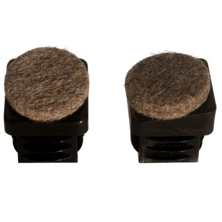 Felt glide Fi-S-01 flat-oval push in feet with felt  for inclined surface