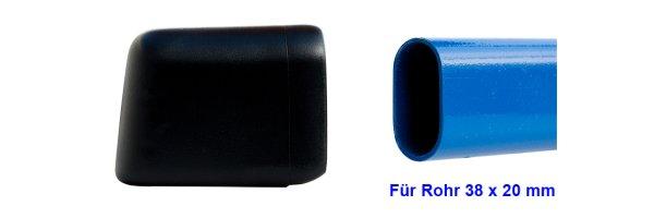 Für flach ovale Rohre