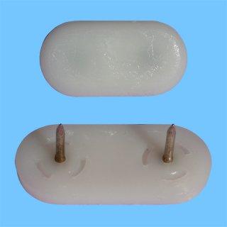 Nagelgleiter K-212 mit Kunststoffgleitfläche - Möbelgleiter flach-oval Bodenschoner aus Kunststoff zum Nageln