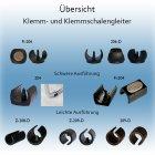 Klemmgleiter mit Zapfen Z-209-D, Kunststoff...
