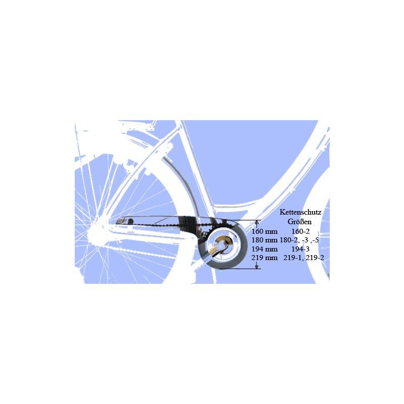 Fahrrad Kettenrad Schutz aus Kunststoff 42Zähne Kurbelsatz Schild-Schwarz