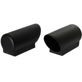 Erhöhte Sockel Winkelgleitkappe 282-D Endkappe - Kunststoff Möbel Gleiter Rundrohr Kappe 30 mm