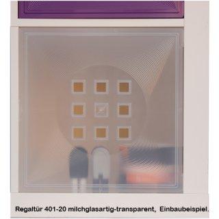 Slightly transparent shelf door*401-T