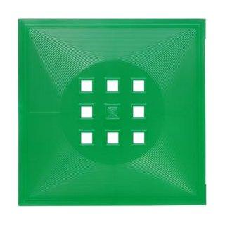 Designer Regaltür transluzent ca. 33,6cm x 33,6cm 401-T-Grün-Transluzent