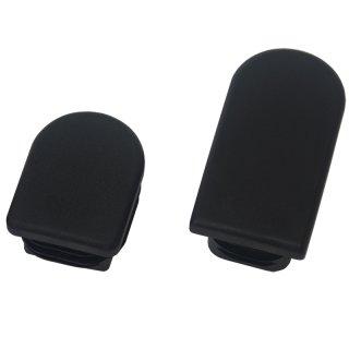 Tunnelrohr Stopfen F221-T halb ovaler Kunststoff Lamellenstopfen mit flachem Kopf für Stahlrohrmöbel 40x20