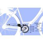 Fahrrad Kettenschutz Easy-Line 20 Zoll mit Dekor für 36-42 Zähne 1-fach Kettenblatt Gelb Easy Drive silber 194-3 40-42Z