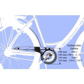 Fahrrad Kettenschutz Easy-Line 194-3 für 40/42 Zähne (zwei flügelig) Schwarz