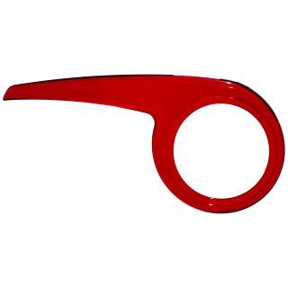 Rot-transparenter Fahrrad Kettenschutz Performance Line für ATB MTB bei 3 fach Kettenblatt 42 bis 48 Zähne