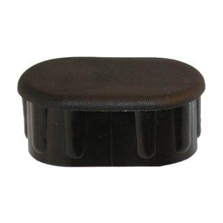 Endkappe für Ovalrohr 50x30 Schwarz
