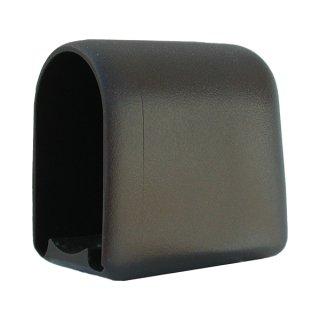 Glide cap for flat oval tube 50x30 tableglider front, school desk plastic glider*109