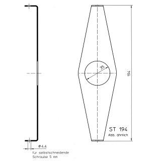 Holder / bracket ST-194 for 40/42 teeth Bike chain guard (7.64 inches)