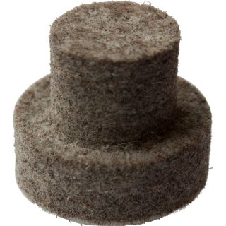 Rundrohrfilzgleiter 259 Holz-Schul-Stuhl Filzgleiter Stopfen für runde Rohre 14,  24 mm