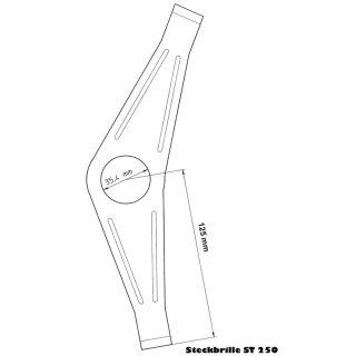 Steckbrille 250 (verzinkt) bis 48 Zähne 3-fach Kettenblatt mit Schutzring fuer Fahrrad Kettenschutz bei Kettenschaltung