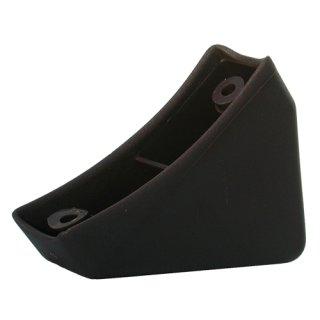 Tischgleiter hinten 110 Kunststoff Gleiter, Schalengleiter zum Schrauben  für Schulmöbel Casala Schultisch mit Rohr 50x30mm Farbe braungrau