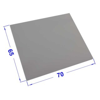 Desk plates / tabletop for office schooling furniture *70x65 cm light grey finish, ABS edge