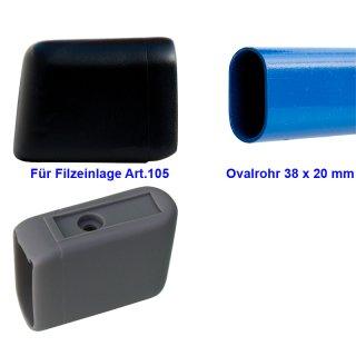 Plastic glides - glidecap for feltglider silencer 104-38x20