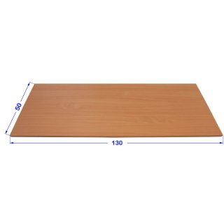 Desk plates / tabletop for office, schooling funiture *130x50 cm light grey finish, ABS edge