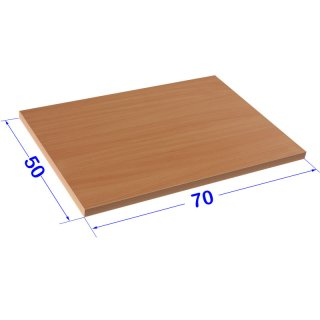 Desk plates / tabletop for office schooling furniture *70x50 cm beech finish, ABS edge