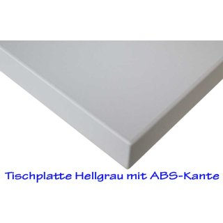 Desk plates / tabletop for office schooling furniture *70x50 cm light grey finish, ABS edge
