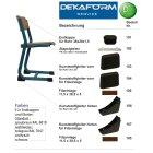 Table plastic glide110 furniture slider for pipe 50x30 Casala Morleys school desk